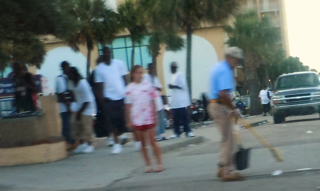 An Early Morning Observation Of Black Bike Week In Myrtle Beach On