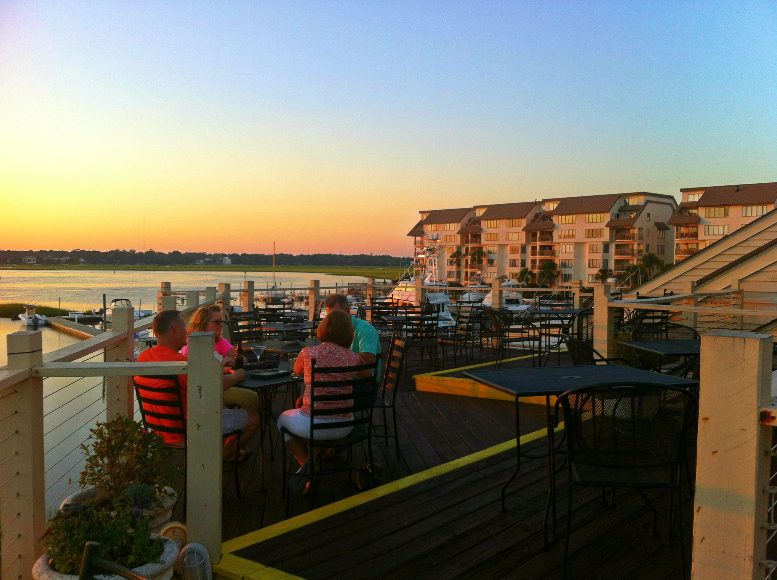 Sept 2013 look across the inlet from top deck of gulfstream cafe for Gulfstream restaurant garden city sc